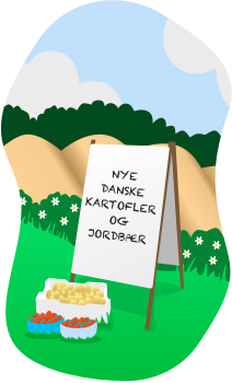 Nye danske kartofler og jordbær